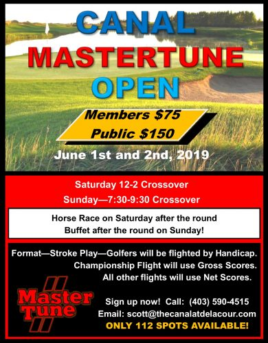 Canal Mastertune Open 2019 Poster